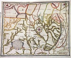 Petr Ivanovich Godunov - Copy of the Godunov map by Claes Johansson Prytz