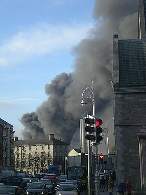Guinness Brewery - Image: Guinness Fire 09