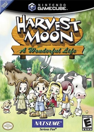 Harvest Moon: A Wonderful Life - Harvest Moon: A Wonderful Life U.S. GameCube box cover
