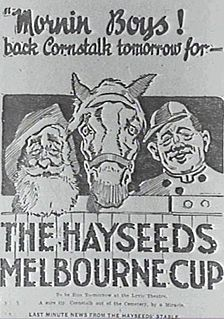 <i>The Hayseeds Melbourne Cup</i> 1918 film by Beaumont Smith