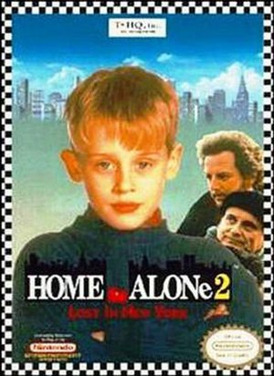Home Alone 2 (video game) - NES box art