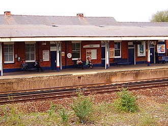 Hook railway station - The station building seen from the westbound platform