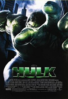 2003 US superhero film directed by Ang Lee