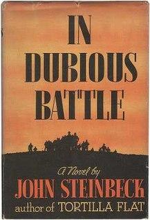 <i>In Dubious Battle</i> novel by John Steinbeck