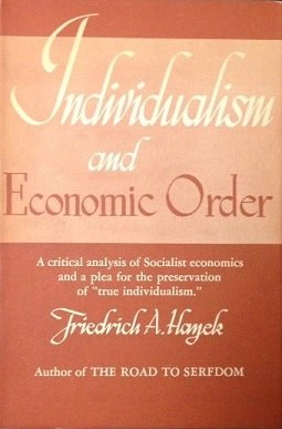 Individualism and Economic Order (Hayek book) cover art