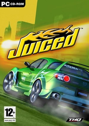 Juiced (video game) - Main cover featuring Mazda RX-8