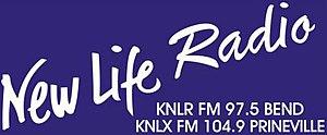 KNLR - Image: KNLR KNLX New Life Radio 97.5 104.9 logo