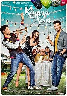 <i>Kapoor & Sons</i> 2016 film by Shakun Batra