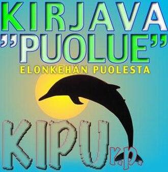 """Kirjava """"Puolue"""" – Elonkehän Puolesta - Logo of Kirjava """"Puolue"""" – Elonkehän Puolesta"""