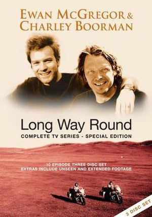 Long Way Round - DVD cover illustrating Ewan McGregor and Charley Boorman