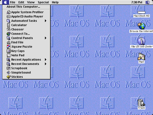 Mac OS 8 - Image: Mac OS 8.1 emulated inside of Sheep Shaver