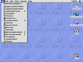 Mac OS 8 operating system