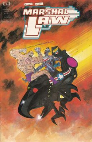 Marshal Law (comics) - Cover of issue 4 of the original Epic Comic series.