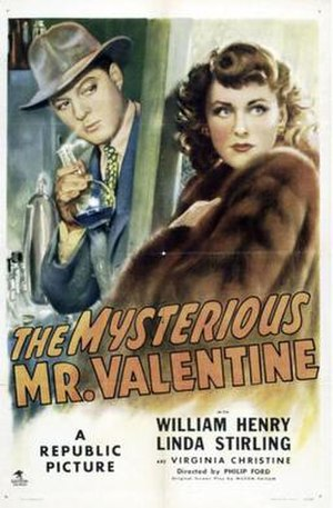 The Mysterious Mr. Valentine - Theatrical release poster