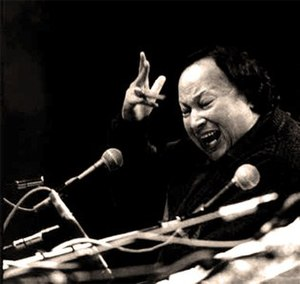 Nusrat Fateh Ali Khan - Khan performing at Royal Albert Hall in 1987