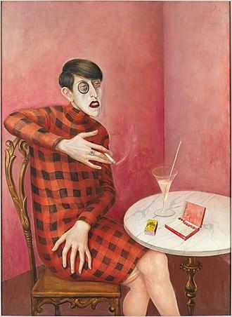 Otto Dix - Portrait of the Journalist Sylvia von Harden, 1926, mixed media on wood, 120 x 88 cm, Paris, Centre Georges Pompidou