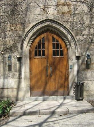 Pontifical Institute of Mediaeval Studies - Main entrance of the institute