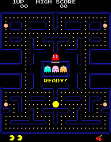 Pac-Man arcade game start-up image