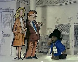 Paddington (TV series) - Paddington meets Mr and Mrs Brown for the first time after arriving in London Paddington station.