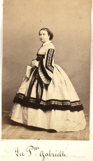 Augusta Bonaparte Gabrielli - Image: Princess Augusta Bonaparte Gabrielli circa 1870