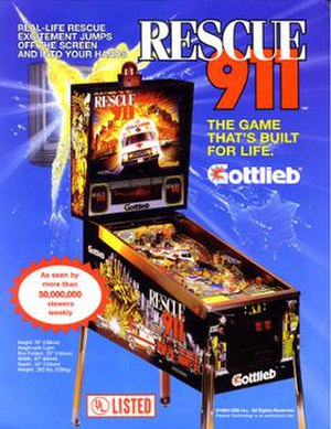 Rescue 911 (pinball) - Image: Rescue 911Pinball Flyer