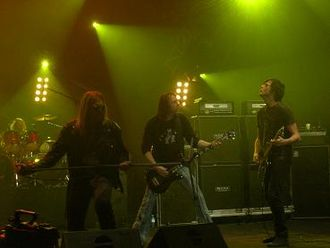 Sid Ringsby - Ringsby performing with JORN at Metalmania 2007 in Katowice, Poland