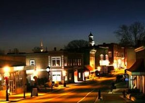 Rogersville, Tennessee - Sunset over Downtown Rogersville