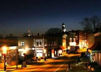Rogersville, Tennessee - Sunset over Downtown Rogersville