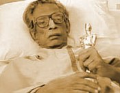 Ray with his Academy Award just days before his death.