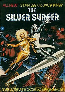 The Silver Surfer (1978), one of the first graphic novels. Cover art by Earl Norem.