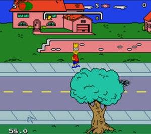 The Simpsons: Bart's Nightmare - The main hub in Bart's Nightmare (Sega Genesis/Mega Drive version shown).
