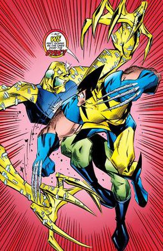 Slayback - Slayback vs. Wolverine in Wolverine Annual 1995 (September 1995)   Art by Ben Herrera