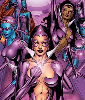 Star Sapphire (comics) - an image of Star Sapphires from Blackest Night