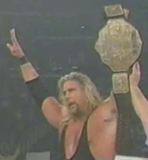 Starrcade (1998) - Kevin Nash, after winning the WCW World Heavyweight Championship at Starrcade