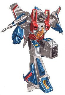 Starscream character from the Transformers franchise