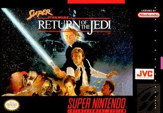 Super Star Wars: Return of the Jedi - North American SNES boxart
