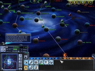 Star Wars: Empire at War - A screenshot of an active galactic conquest battle (playing as the Empire)