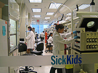 University of Toronto Faculty of Medicine - A laboratory at The Centre for Applied Genomics of the Hospital for Sick Children