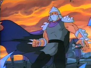 Teenage Mutant Ninja Turtles (1987 TV series) - The Shredder, as seen in the series' opening theme sequence, and some Foot soldiers.