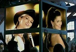 "Thank You Baby! (For Makin' Someday Come So Soon) - Shania on TV screens in the ""Thank You Baby!"" video"