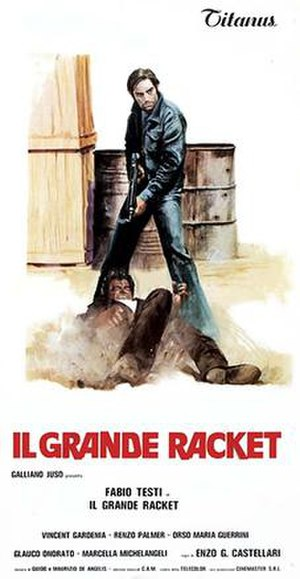 The Big Racket - Italian film poster for The Big Racket