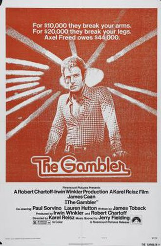 The Gambler (1974 film) - Theatrical release poster