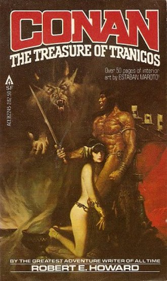 "The Black Stranger - The Treasure of Tranicos (also known as ""The Black Stranger"") by Robert E. Howard and L. Sprague de Camp, Ace Books, 1980"
