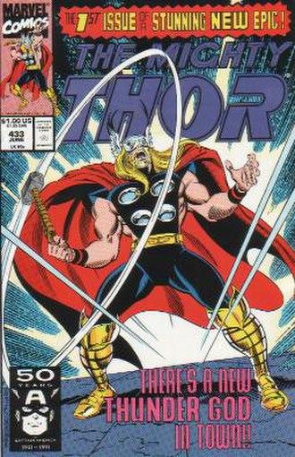 Thunderstrike (Eric Masterson) - Image: Thor 433