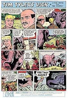 <i>Tim Tylers Luck</i> adventure comic strip