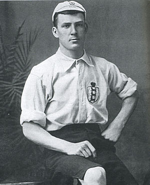 Tommy Crawshaw - Tommy Crawshaw aged 22, pictured in his England kit after his first international in 1895