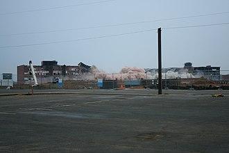 Cannon Mills - Image: Towel Center Bleachery Implosion 030