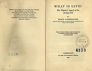 What Is Life? - Title pages of 1948 edition