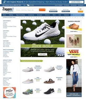 Zappos Online shoe and clothing store