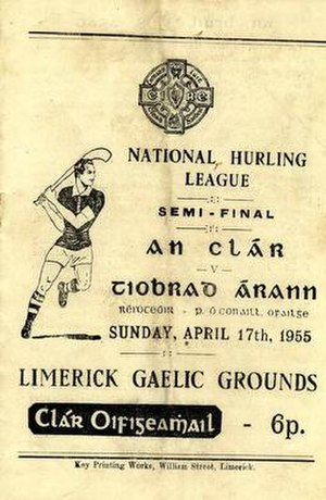 1954–55 National Hurling League - Image: 1954–55 National Hurling League